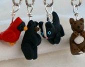 Woodland Stitch Markers (set of 4)