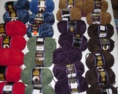 HUGE lot of Lion Suede Yarn- Many Colors- 28 skeins in all