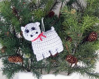 Christmas Ornaments animal crochet amigurumi hippo