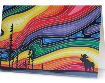 Across the Universe Art Greeting Card