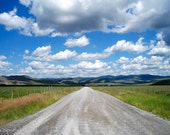 Leaving Montana, Country Road, New Beginnings, Adventure and Wandering, art Photograph