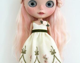 Ivory Lattice Dress for Blythe