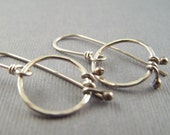Tiny Sterling Silver Hoop with Wrap Earrings