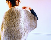 Mohair grey light and warm cardigan- Kate
