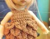 Hujo Baby Petal dress in brown