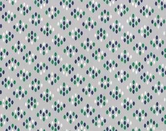 "12""piece/remnant - SALE - Color Me Happy - Cluster Drops in Gray: sku 10824-17 cotton quilting fabric by V and Co. for Moda Fabrics"
