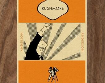 RUSHMORE Penguin Book Cover-inspired Movie Print