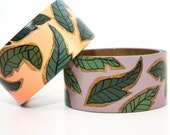 Tropical Wallpaper- Wide Flat Bangle