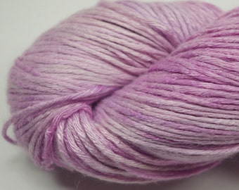 Hand painted Makimo Bamboo yarn, 4 oz, Lavender