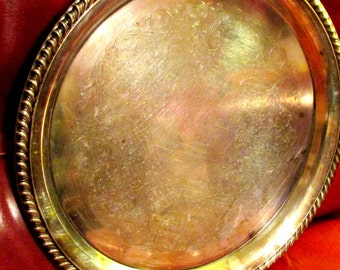 Serving Tray Vintage Silver Plate Breakfast in Bed William A. Rogers