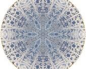 Mandala Art, Abstract Nature Print, Geometric Art Print, Peaceful Round Art, Fine Art Print in Icy Blue
