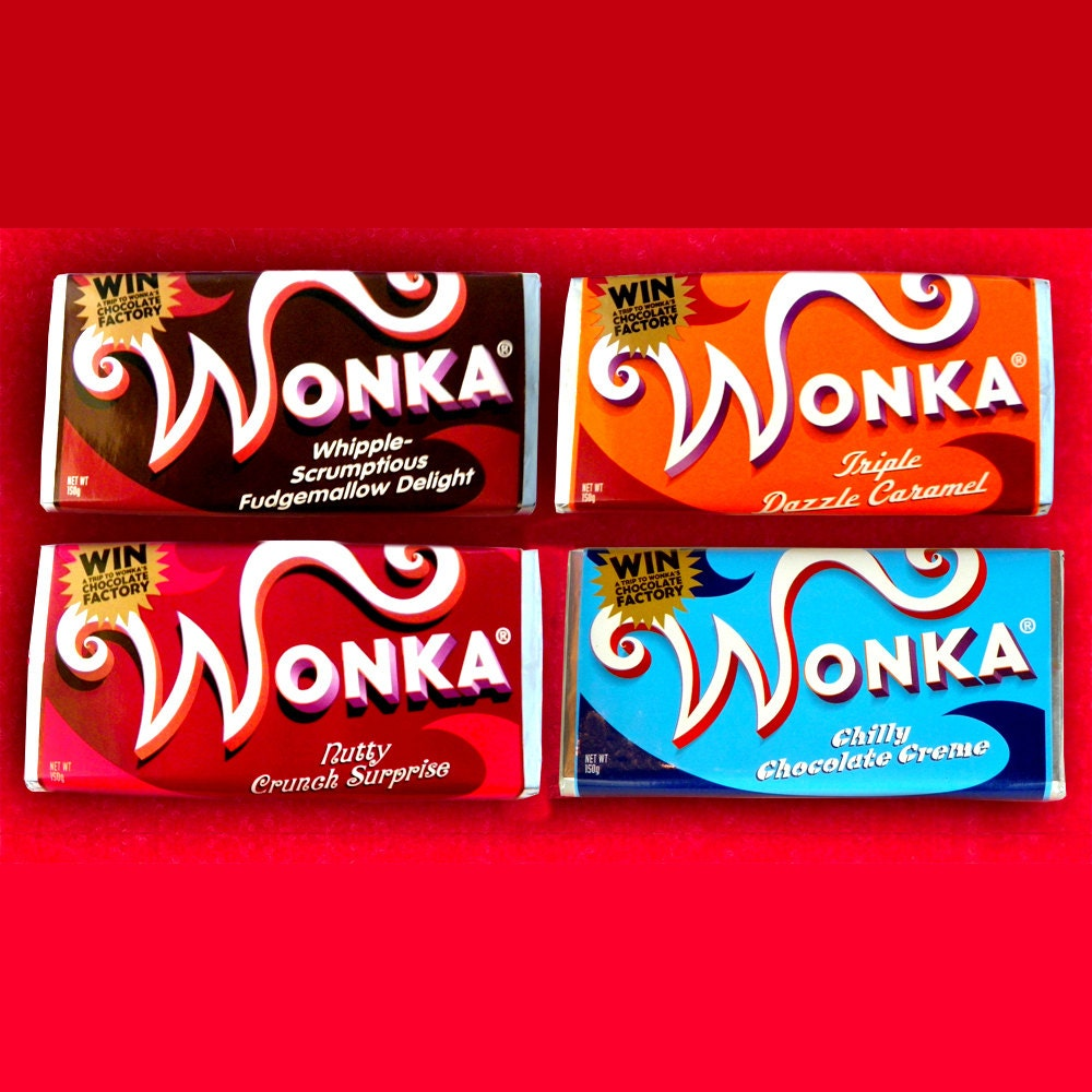 U555u | Images: Willy Wonka And The Chocolate Factory Chocolate Bar