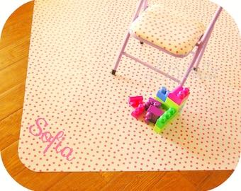 Personalized Custom Splat Mat - Custom Oilcloth Mat - Monogrammed Custom Splat Mat - Custom Floor Mat - Choose your Fabric