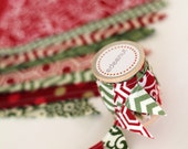 Red Green Christmas Cake Bunting. fabric mini Ribbon. Cake toper and invitation,  save the date, bunting