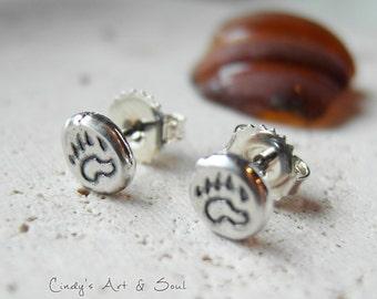 Bear Claw Earrings 925 sterling Silver Post