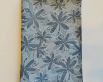 Fabric Book Cover, Standard Size Paperback Book Cover, Grey Flowers, Floral, Book Cover, Cover, Fabric Book Cover, Flower Book Cover