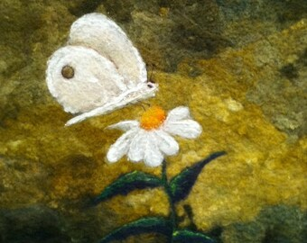 No.767 Happy Spring - Needlefelt Art XL - Wool Painting