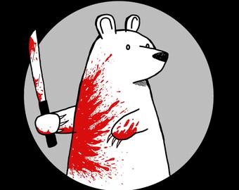 Machete Bear 12x18 Art Print