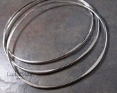 Hammered BANGLES - Sterling Silver Bangles - Set of 3 - You Choose the Size