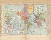 old world map from 1904, a poster-sized super high resolution 600 dpi printable digital download