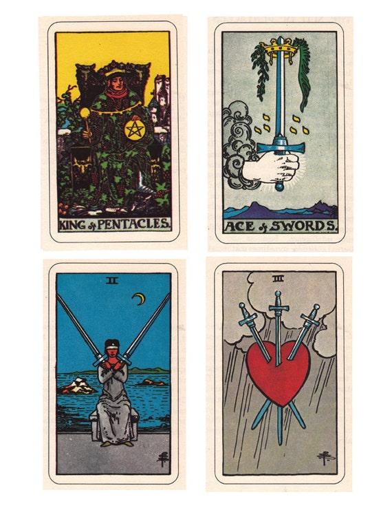 Rider Waite Smith Tarot Cards, A Printable Digital