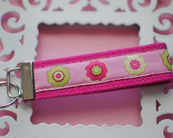 Pink Blossoms Key Fob