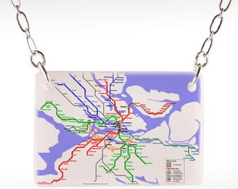 Stockholm Map Necklace - photo necklace, photo jewelry