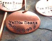 Garden Marker - Solid Copper, Hand Stamped, Herbs, Plant Marker, Flowers, Vegetable Marker
