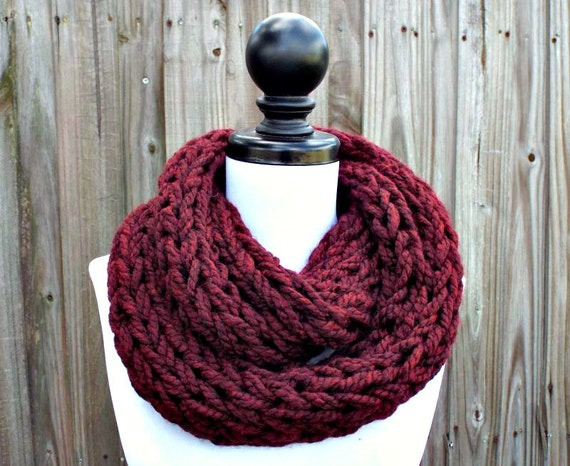 Knitting Patterns For Women s Scarf : Instant Download Knitting PATTERN Infinity Scarf Knitting