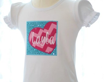 Personalized LOVE SQUARED Valentine's Day Tshirt size 1-8 custom boy or girl - YOU design