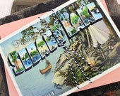 Vintage Large Letter Postcard Wedding Invitation, Sebago Lake (Printed Pocket Fold) - Design Fee