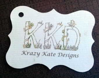 Ornate Business Tags, Set of 50, Product Tag, Personalized Tags, ornate tags, printed tags
