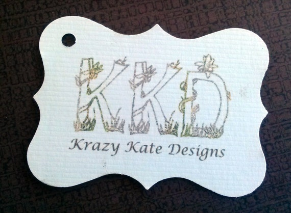 Ornate Business Tags, Set of 50, Product Tag, Personalized Tags