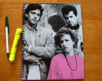 Record Album Cover Journal Sketch Book - PRETTY IN PINK - Upcycled