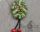Handmade Glass Green Man ...