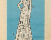 Vintage Sewing Pattern 1950's Dress with Gathered Neckline