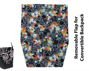 Flaps for Convertible Backpacks - Change the flaps instead of buying an entirely new bag - Urban Flowers FABRIC