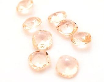 Vintage Swarovski Art 4470 12mm Lt Peach, unfoiled crystal stones