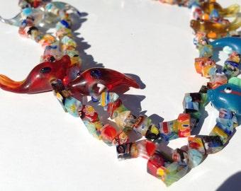 Rainbow Fish Necklace