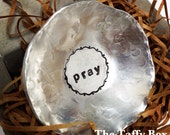 Hand Stamped Prayer Bowl Trinket Dish