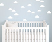 Cloud Wall Decals - Cloud Decals - Cloudy Sky Wall Mural Decal - Child Nursery Decal - Statement Decal - Baby Cloud Decal -  WD1053