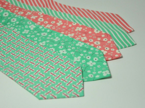Pink And Green Ties For Wedding - Erieairfair