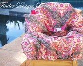 Shopping Cart Cover - Custom Boutique Cart Cover - Kaleidoscope in Pink Taupe