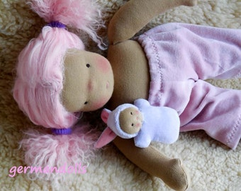 Custom doll - Nicki a GermanDolls 12 inch Doll - made in the waldorf tradition - Easter bunny