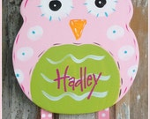 Owl Bow Holder, Hair Bow Holder, Bow Holder, Bow Keeper, Girl Decor, Hand Painted, Personalized Bow Holder, Hair Clip Holder, Clip Holder