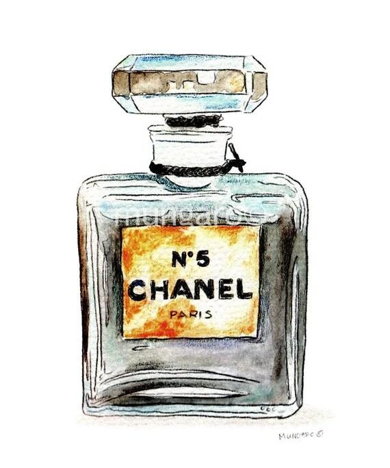 Gut bekannt Affiche impression de peinture bouteille Chanel N 5 parfum XK42