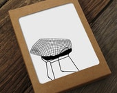 diamond wire chair notes / mid century modern stationery