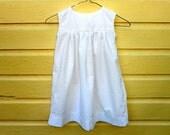 Robe filles Empire classique sans manches robe 2 t blanc coton