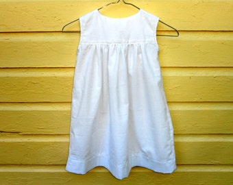 Dress Girls Sleeveless Classic Empire Dress 2T White Cotton