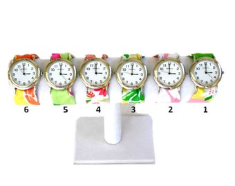 Silver Wristlet Watch Made from Your Choice of Lilly Pulitzer Fabric..Group 2